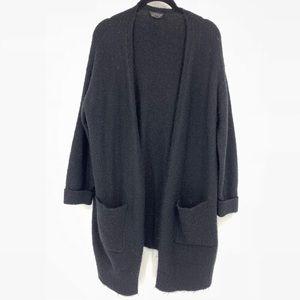 TopShop Oversized Black Fuzzy Cardigan Sweater